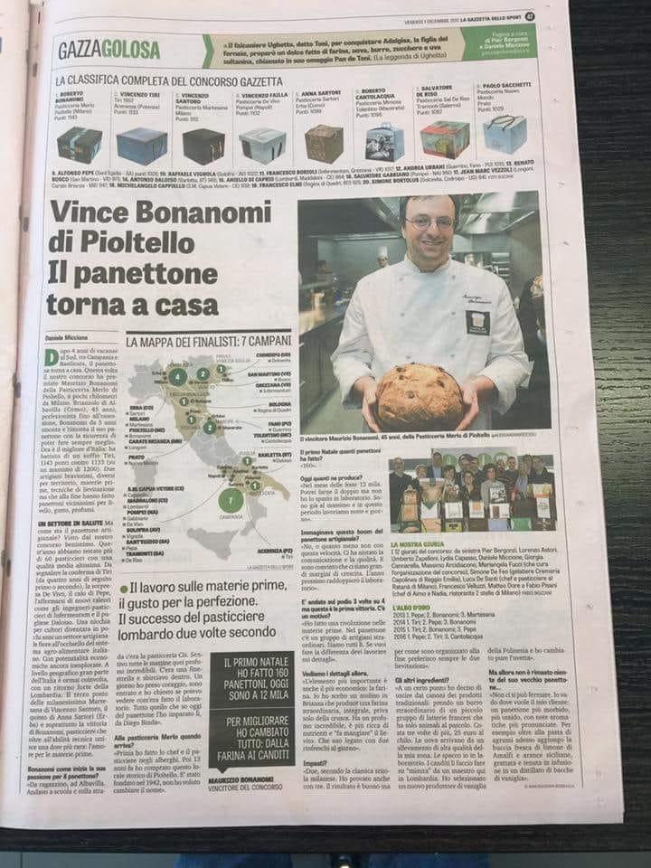 Il miglior Panettone d'Italia è di Maurizio Bonanomi!