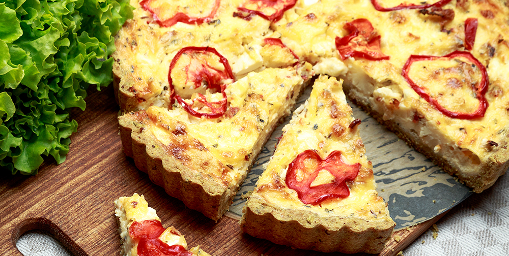 Torta dalata peperoni e ricotta farina tipo 1