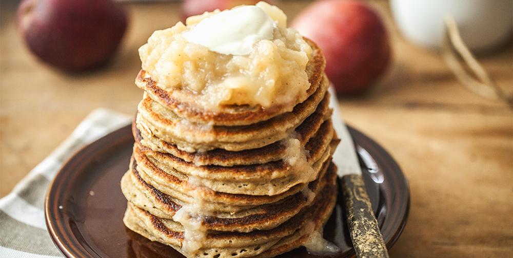 pancake mela e avena farina per dolci tipo 1