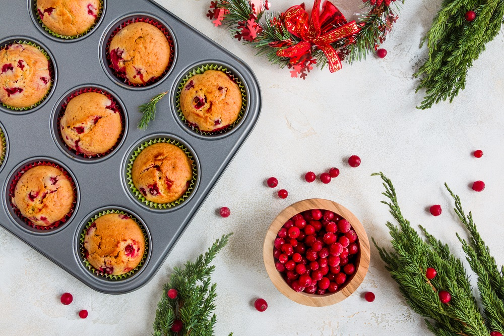 MENU DI NATALE Muffin al salmone e cranberries