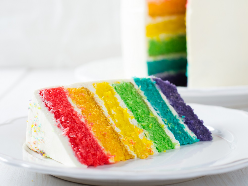 Farina per dolci rainbow cake