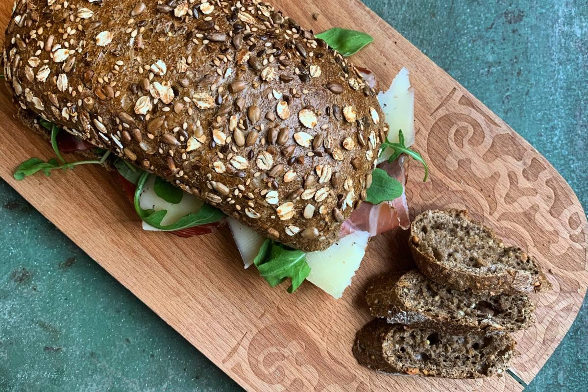 Pane in cassetta farina integrale il tirolese